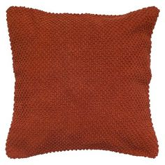 Rizzy Home Handloom Textured Decorative Pillow - Paprika