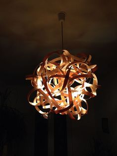 Lamp BIRDSNEST Mahogany Wood Design Pendant by concreteedesign, €119.90