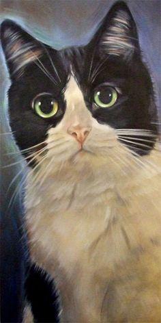 Tuxedo cat Tillie by Diane Irvine Armitage.