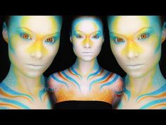 23 Extraordinary Body Paintings By Alexys Fleming Movie Special Effects, Special Effects Makeup, Halloween Makeup, Halloween Costumes, Halloween Ideas, Halloween Face, Futuristic Makeup, Mermaid Makeup Tutorial, Makeup Tutorials Youtube