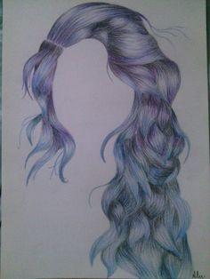 #hair#summertime#blue#violet :3