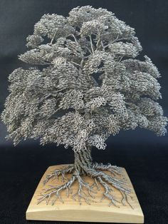 WireWood Tree Sculpture by Clive Maddison -- Click through to see more fascinating images