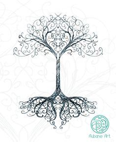✿ Tattoos ✿ Celtic ✿ Norse ✿ L'arbre secret by Aubane
