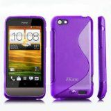 JKase Premium Quality HTC One V / T320e HTC Primo Streamline TPU Case Cover – Retail Packaging-Purple