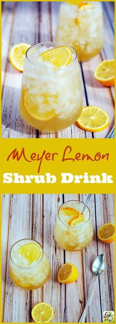 Got lemons? Make this Meyer lemon shrub drink recipe! You'll love this sugar free cocktail and mocktail drink mixer recipe. It's easy to make, perfect for low calorie, skinny cocktails, too! Mocktail Drinks, Cocktail And Mocktail, Smoothie Drinks, Yummy Drinks, Cocktail Recipes, Lemon Cocktails, Drink Recipes, Vodka Drinks, Alcoholic Beverages