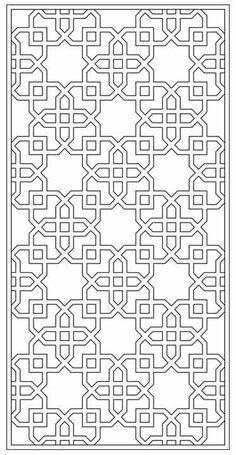 Design Library | Tableaux® Decorative Grilles for Residential Design Motifs Islamiques, Islamic Motifs, Islamic Art Pattern, Pattern Art, Pattern Design, Design Design, Mandala Coloring, Colouring Pages, Motif Arabesque