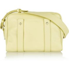 See by Chloé Textured-leather shoulder bag ($265) ❤ liked on Polyvore featuring bags, handbags, shoulder bags, pastel yellow, zipper purse, shoulder handbags, yellow shoulder bag and purse