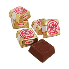 Ice Cubes Chocolates. they were always up at the checkstand.  I always wanted to have one but when I tried them they were not as good as I had imagined them to be.  Good texture though.