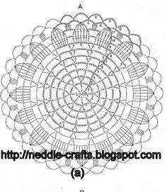 2 (609x700, 145Kb) Crochet Stitches Chart, Crochet Shawl Free, Crochet Doily Diagram, Crochet Flower Patterns, Crochet Mandala, Crochet Round, Crochet Doilies, Embroidery Patterns, Crochet Curtains