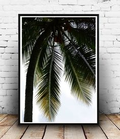 Tropical Art Palm Tree Printable Art Palm Tree by honeytreeprints