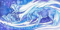 Creators of the Milky Way by Aikya on deviantART, the blue Wolf spirit