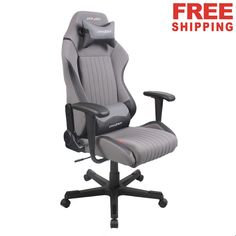 DXRacer Office Chair DA02/GN PC Gaming Chair Racing Seats Ergonomic Chair,black and grey,weight limit:265pounds,#computerchair,#officechair,#freeshiping
