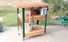 DIY Grilling Cart at The Home Depot