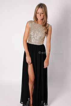 pre-order arrives 5th january washington sequin gown - black