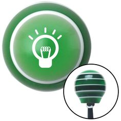 White Light Bulb On Green Stripe Shift Knob with M16 x 15 Insert - Give your interior the ultimate look. American Shifter's Elite(TM) series shift knobs are made from the highest quality components resulting in a superior feel on every shift. Each shift knob is designed and customized in the USA by skilled shift knob artisans who have a trained eye on every detail. American Shifters shift knobs offers an exclusive aluminum threaded insert designed to be screwed onto your shift arm. You…