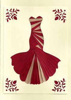 iris folding dress cards - Google Search