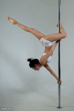 pole dance - butterfly straight leg - I did this today!!!! My leg wasn't straight though. Haha