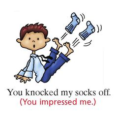 EwR.Grammar - #English Idiom: to knock someone's socks off