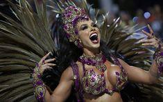 In the Rhythm of Samba: The Opening of the Brazilian Carnival. For more great photos, visit the Sputnik International website Carnival Dancers, Carnival Girl, Rio Carnival, Carnival Costumes, Carnival Fashion, Guinness World, Hindu Art, Samba, Mardi Gras