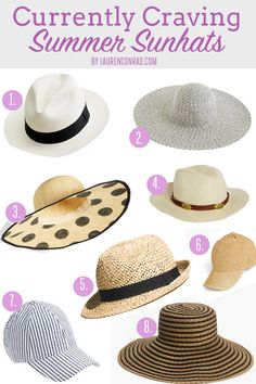 Currently Craving Summer Sunhats