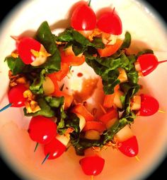 Spice Up Cooking : Cherry tomatoes, Mozzarella, Spinach, Pepper Bites