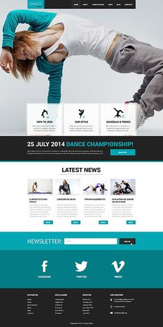 Template 50542 - Dance Responsive Website Template