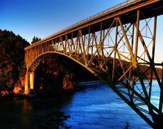 The Remarkable Bridge In Washington That Everyone Should Visit At Least Once Washington Tourist Attractions, Attraction World, Travel Sights, Travel Log, Travel Destinations, Travel Tips, Evergreen State, Whidbey Island, Washington State