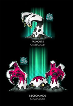 "???-PALMORTIS [Palm-Rigor Mortis] -Grass/Ghost -The Zombie Pokemon -Ability: Sticky Hold/Gooey - Zombie(HA)* -Dex: ""This hand shaped shroom lives in deep swamps were it spends most of its time feeding on dead matter. It is beleived they grow on the..."