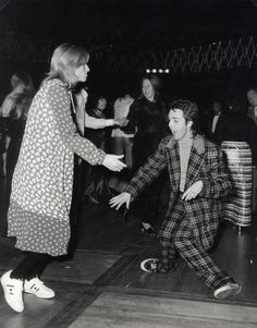 Paul and Linda McCartney get down on the dancefloor, London, 1970.