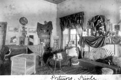 A Simla room maybe a sitting area in a lodging house, in a photo from 1890 Rare Photos, Vintage Photos, India House, Vintage India, Shimla, Hill Station, Present Day, Capital City, Tourism