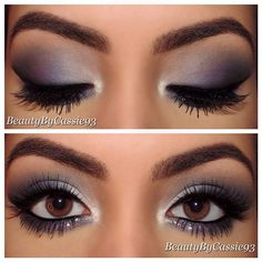 This is so pretty! Gray makeup.