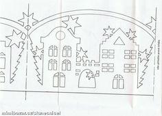 papírové filigrány 2 vánoční zimní vystřihovánky dohromady 7 vzorů