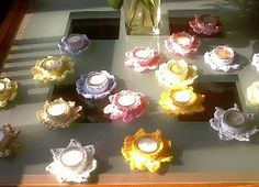 Tea Light Flowers - free pattern