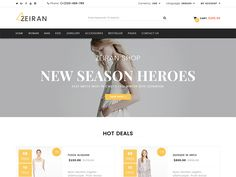 Zeiran - Fashion Bootstrap eCommerce Template by DevItems
