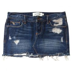 MINI SKIRT Abercrombie Fitch ($34) ❤ liked on Polyvore featuring skirts, mini skirts, shorts, bottoms, saias, short, blue mini skirt, short denim skirts, denim mini skirt and short skirts