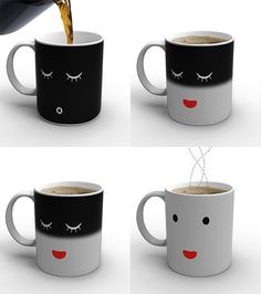 The morning mug!! I want one!! lol. It changes for sleeping to awake when it gets hot!