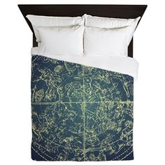 AmazonSmile: CafePress - Zodiac - Queen Duvet Cover, Printed Comforter Cover, Unique Bedding, Luxe: Home & Kitchen