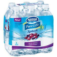 Nestle Pure Life Splash Acai Grape Water Beverage, 500ml, 6 pack