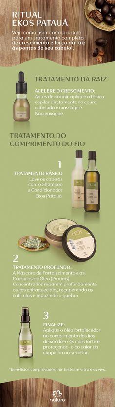 O novo Ekos Patauá é a força da natureza em seus cabelos. Veja como usar cada produto e garanta cabelos mais resistentes e cheios de vida.