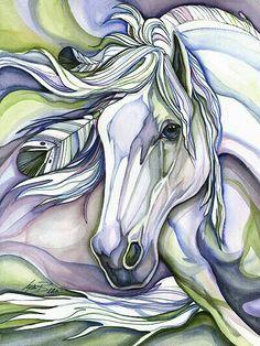 Watercolor horse