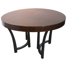 Round Dining Table in Style of Robsjohn-Gibbings for Widdicomb, circa 1938 $5600