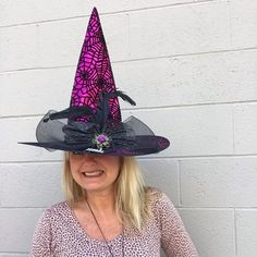Adorable New Spider Web Witch Hats perfect for Halloween!