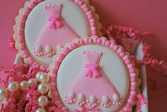 Little Pink Dress Decorated Sugar Cookies by sweetgoosiegirl