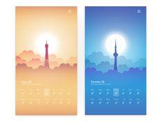 30 Cool Weather Mobile App Designs for Your Inspiration - Web Design Ledger Module Design, Interaktives Design, App Ui Design, User Interface Design, Mobile App Design, Mobile Ui, Weather Mobile, Website Design Layout, App Design Inspiration
