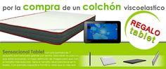 Regalo Tablet por la compra de colchón viscoelástico.  Anùnciate gratis entu ciudad #Soria #España