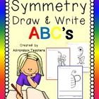 Symmetry+Draw+&+Write+ABC's  Teaching+the+children+about+Symmetry+can+sometimes+be+difficult.+Using+pictures+of+things+they+know+can+help.+  Ju...
