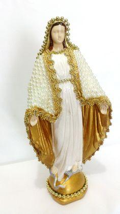 Nossa Senhora das Graças- Pérolas e Aljofre -30cm