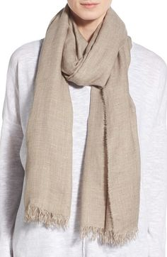 Eileen Fisher Modal Mélange Shimmer Scarf available at #Nordstrom