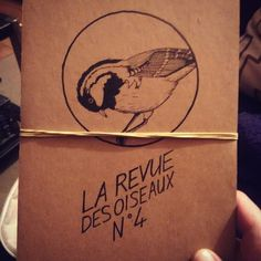 graphic design La revue des oiseaux Hand made Atelier Summercity - Brest