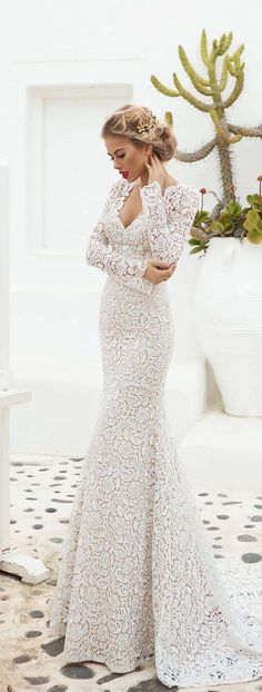 Stunning 79 Beautiful Lace Wedding Dresses Inspiration